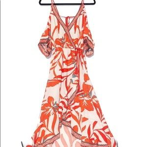 FLYING TOMATO high/low maxi dress